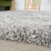 Super Soft Luxury Silver Shaggy Runner Rug - Aspen