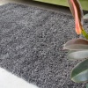 Super Soft Luxury Grey Shaggy Rug - Aspen