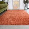 Super Soft Luxury Terracotta Shaggy Rug - Aspen