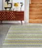 Ochre Grey Striped Runner Rug - Bombay