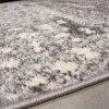 Grey Distressed Pattern Living Room Rug - Bombay