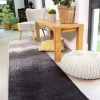 Modern Black Distressed Striped Living Room Rug - Enzo