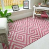 Vibrant Pink Geometric Indoor Outdoor Rugs  - Habitat