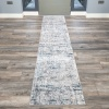 Modern Abstract Distressed Hall Runner Rugs in Blue Grey - Hatton
