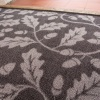 Grey Natural Print Washable Rug