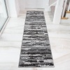 Grey Graphite Ombre Effect Living Room Rug - Milan