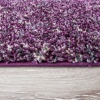 Purple Super Soft Shaggy Bedroom Rug - Murano
