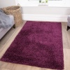 Plum Shaggy Living Room Rug - Vancouver