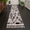 Grey Blocks Distressed Moroccan Living Room Rug - Souk