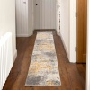 Distressed Ochre Yellow Pastel Soft Hall Runner Rug - Oscar