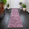 Light Purple Mottled Shaggy Living Room Rug - Murano