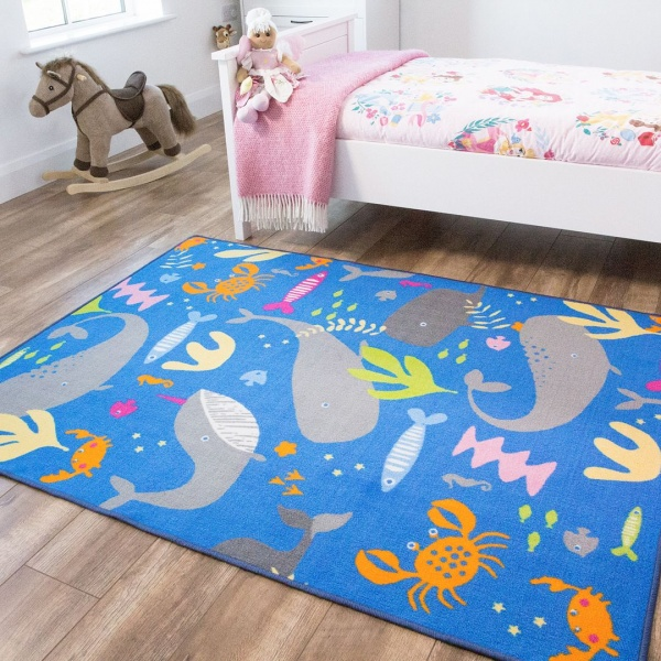Kids Sealife Rug - Carousel