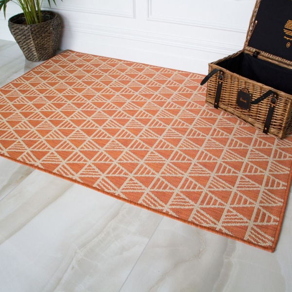 Terra Geometric Outdoor Runner Rug - Habitat