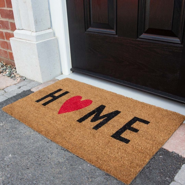Home Heart Coir Outdoor Entrance Doormat - Coir