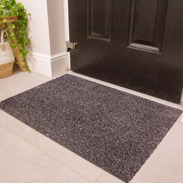 Grey Durable Eco-Friendly Washable Doormats - Hunter