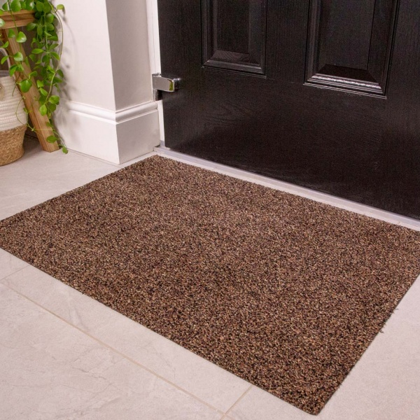 Brown Durable Eco-Friendly Washable Doormats - Hunter