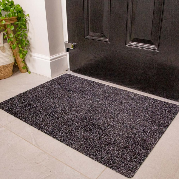 Dark Durable Eco-Friendly Washable Doormats - Hunter