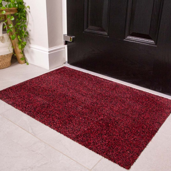 Red Durable Eco-Friendly Washable Doormats - Hunter