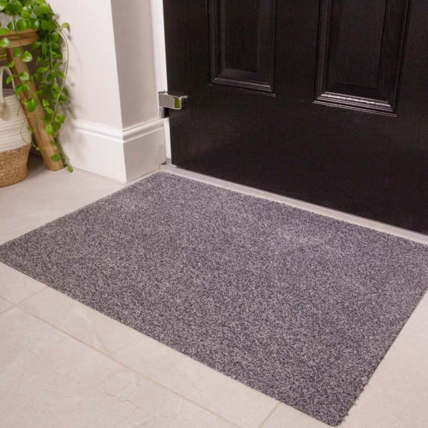 Silver Grey Durable Eco-Friendly Washable Doormats - Hunter