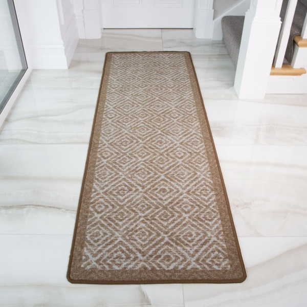 Moroccan Beige Washable Runner Rug