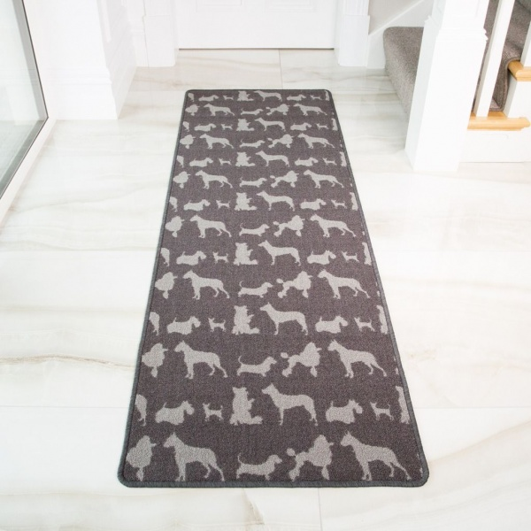 Dog Print Washable Runner Rug
