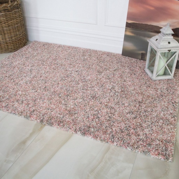 Super Soft Blush Pink Luxurious Shaggy Rug - Murano