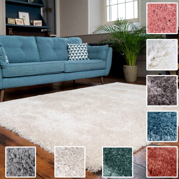 Deluxe Thick Soft Shaggy Living Room Rug - Choose Your Colour